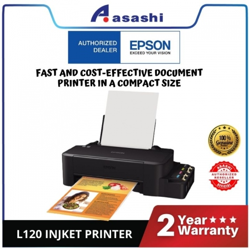 Epson L120 Injket Printer (Warranty 1Years + 1Years online Register @ 15,000 Pages Printing)