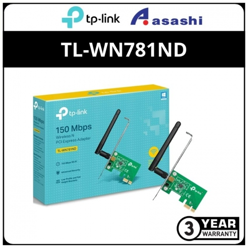 Tp-Link Tl-Wn781nd N150Mbps PCI Express Wireless Card