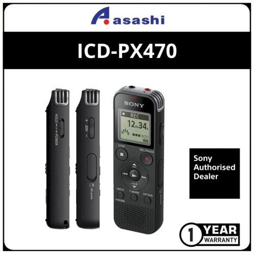 Sony ICD-PX470 4GB PX Series MP3 Digital Voice IC Recorder