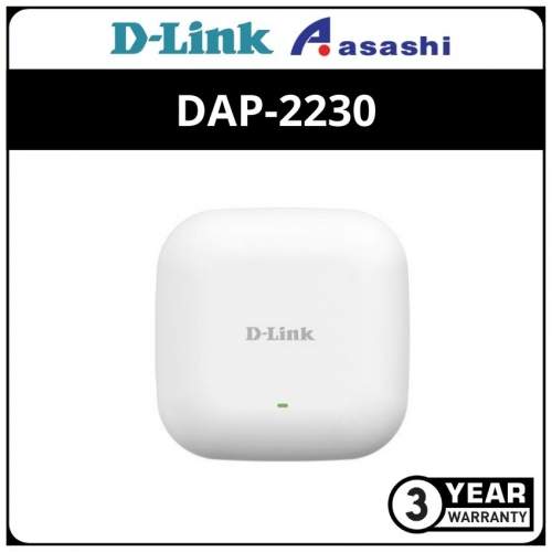 D-Link DAP-2230 Wireless N 300M Access Point with POE (Celling Mount Type AP)