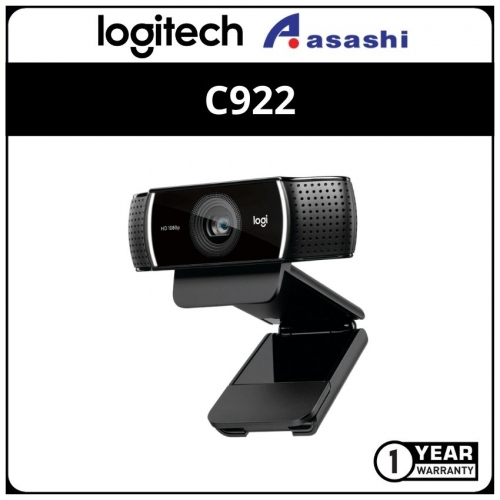 Logitech C922-Black Pro Stream FHD Webcam (1 yrs Limited Hardware Warranty)