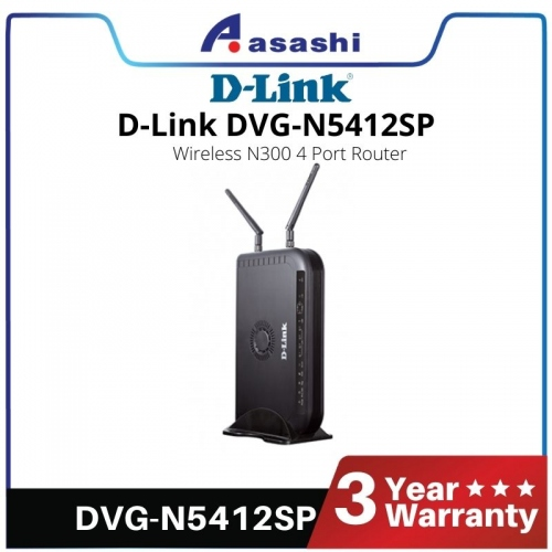 D-Link DVG-N5412SP Wireless N 300M 2 Port ATA (Voice) & 4 Port Router