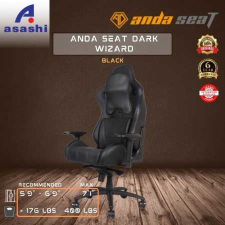 ANDA SEAT Dark Wizard (Black) Gaming Chair [AD4XL-WIZARD-B-PV/C]