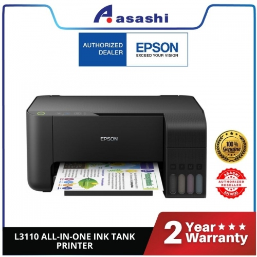 Epson L3110 Ink Tank Printer (Warranty 1Years + 1Years online Register @ 30,000 Pages Printing)