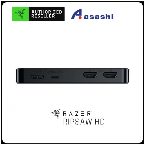 Razer Ripsaw HD - Game Capture Card (1080p at 60FPS Stream, 4K Passthrough, Full Audio Mixing Capabilities) [