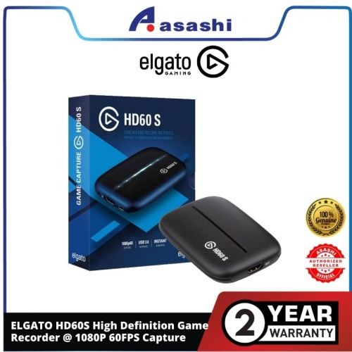 ELGATO HD60S High Definition Game Recorder @ 1080P 60FPS Capture — 2 Years Warranty