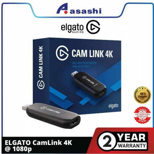 ELGATO CamLink 4K @ 1080p 60FPS or even up to 4K at 30 FPS — 2 Years Warranty