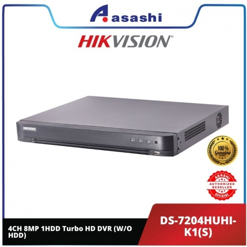 Hikvision DS-7204HUHI-K1(S) 4CH 8MP 1HDD Turbo HD DVR (W/O HDD)