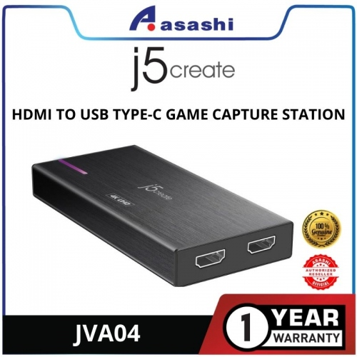 J5 JVA04 HDMI to USB Type-C Game Capture Station