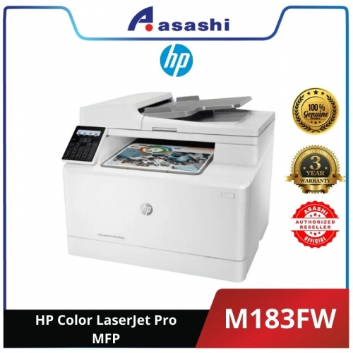 HP Color LaserJet Pro MFP M183FW Printer (7KW56A) (Online Warranty Registration 1+2 Yrs)