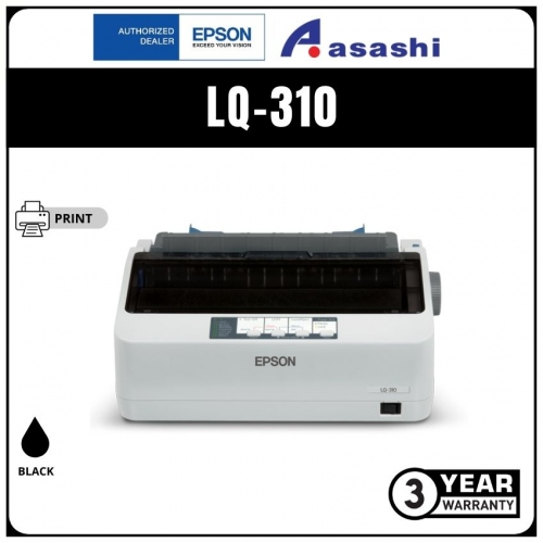 Epson LQ-310 24pin 1+3 Copies Dot Matrix Printer